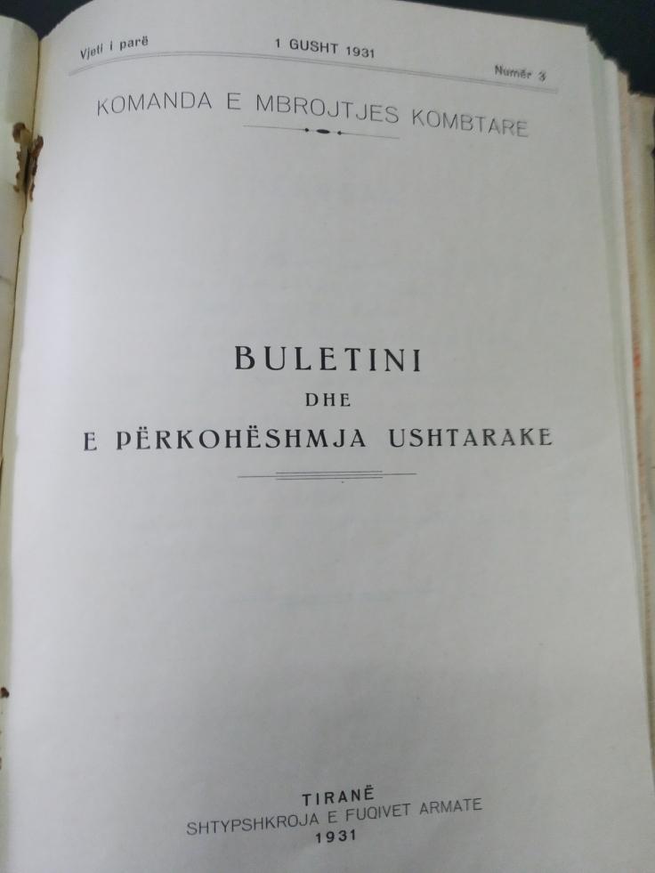 Ibrahim Farka 1931 - Buletini dhe e Perkoheshmja Ushtarake
